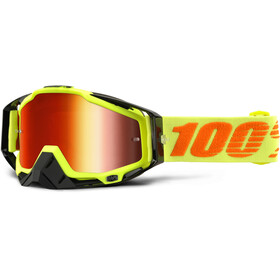 100% Racecraft Anti Fog Mirror Goggles attack yellow